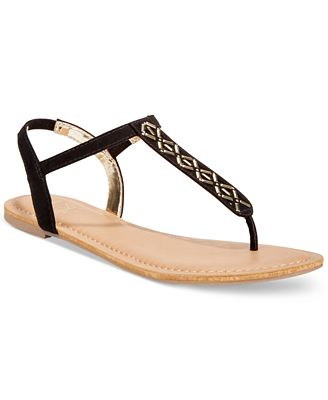 Material Girl Skyler Flat Sandals, Only at Macy's