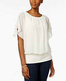Flutter-Sleeve Top, Created for Macy's