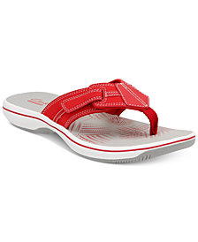 Clarks Collection Women's Brinkley Bree Flip-Flops, Created For Macy's