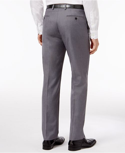 Calvin Klein Slim-Fit Solid Dress Pants - Pants - Men - Macy s 74376d3cc0