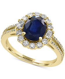 Royalé Bleu by EFFY® Sapphire (1-9/10 ct. t.w.) and Diamond (5/8 ct. t.w.) Ring in 14k Gold