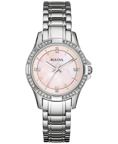 Bulova Women's Stainless Steel Bracelet Watch 30mm 96L206