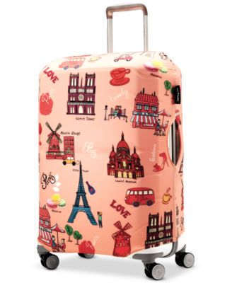 4 Size Green Spray Printed Business Luggage Protector Travel Baggage Suitcase Cover