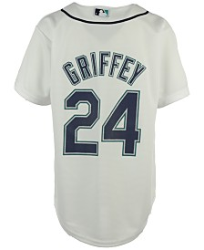 Majestic  Ken Griffey Jr. Seattle Mariners Player Replica CB Jersey, Big Boys (8-20)