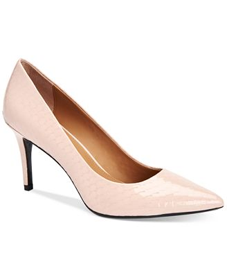 Gayle Leather Pointed-Toe Pumps