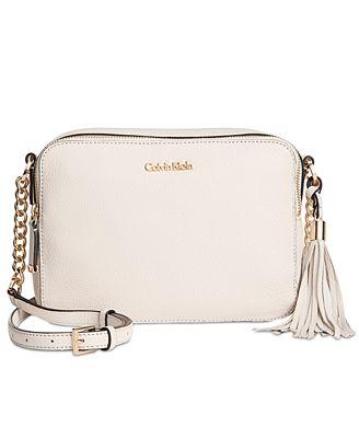 Calvin Klein Quilted Tassel Crossbody Handbags