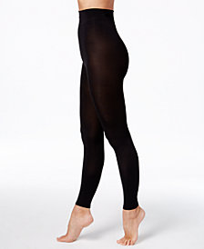 DKNY  Women's Compression Footless Tights