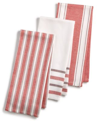 Martha Stewart Collection 3 Pc. Basket Weave Kitchen Towels, Created For  Macyu0027s