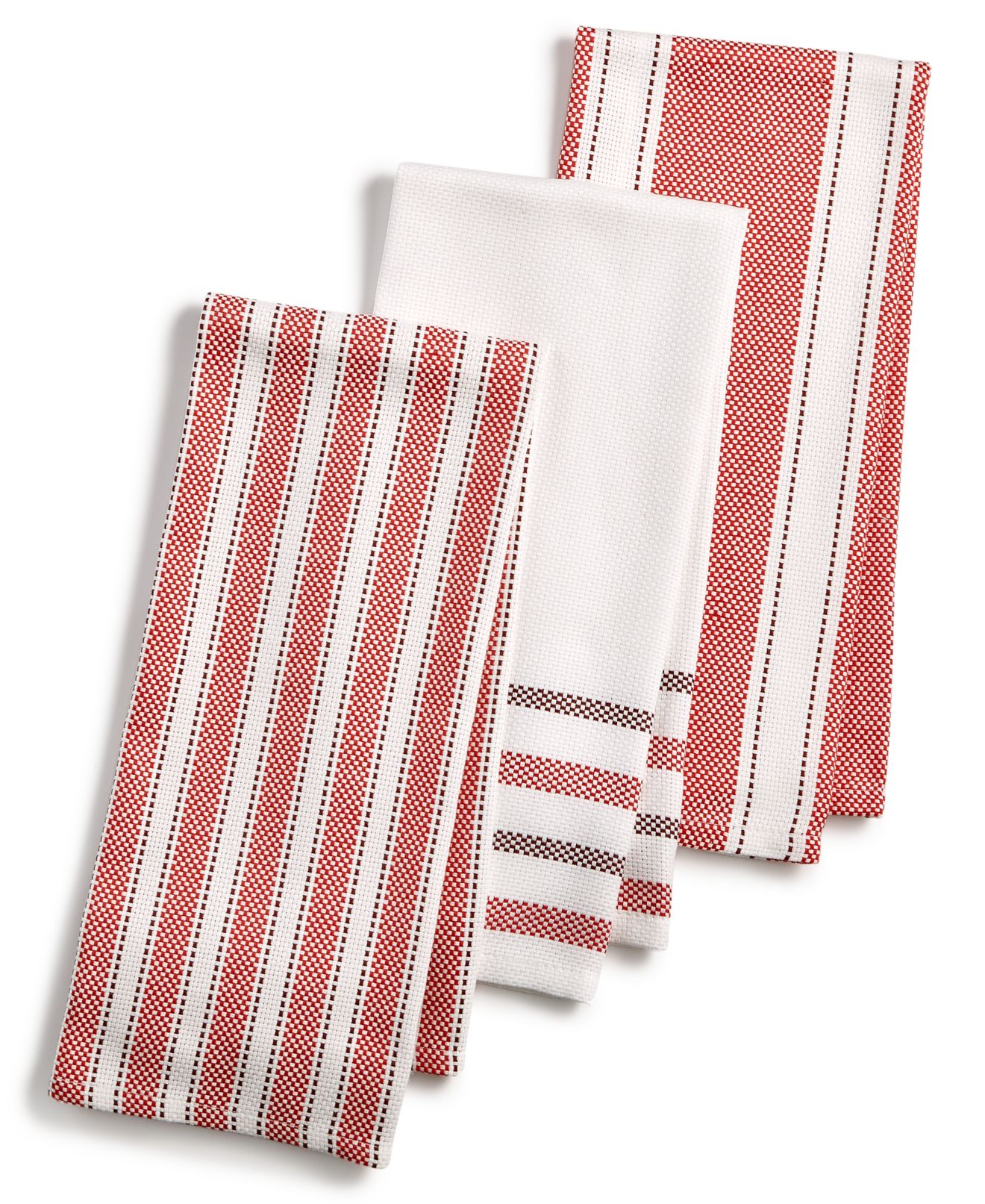 martha stewart collection 3 pc basket weave kitchen towels only