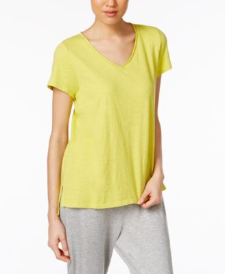 Image of Eileen Fisher Cotton Jersey V-Neck T-Shirt, Regular & Petite