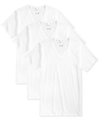 Men's 3 Pack Essential Fit Staycool + V-Neck Cotton Undershirts