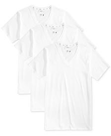 Jockey Men's 3 Pack Essential Fit Staycool + V-Neck Cotton Undershirts