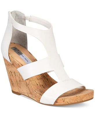 INC International Concepts Women's Lilbeth Wedge Sandals, Created for Macy's
