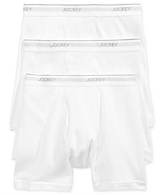 Jockey Men's 3 Pack Essential Fit Staycool + Cotton Boxer Briefs