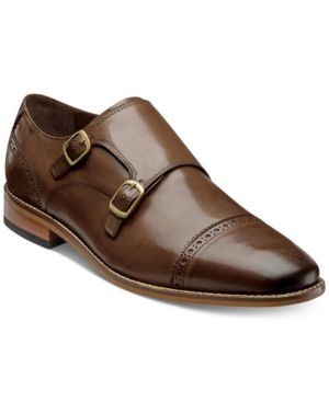 MEN'S MARINO DOUBLE MONK STRAP OXFORDS, CREATED FOR MACY'S MEN'S SHOES