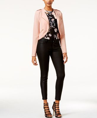 Material Girl Juniors' Military Jacket & Mesh Bodysuit, Only at Macy's