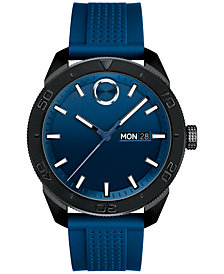 Movado Men's Swiss Bold Blue Silicone Strap Watch 43mm 3600459