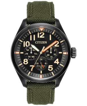 Citizen Men's Eco-Drive Military Green Nylon Strap Watch