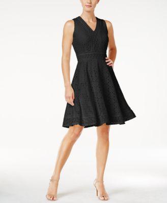 Grey long sleeve rhinestone flare slim dress