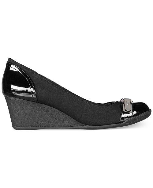 479f3a8e193 Anne Klein Sport Tamorow Wedges   Reviews - Pumps - Shoes - Macy s