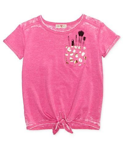 Kandy Kiss Tie-Front T-Shirt, Big Girls (7-16)