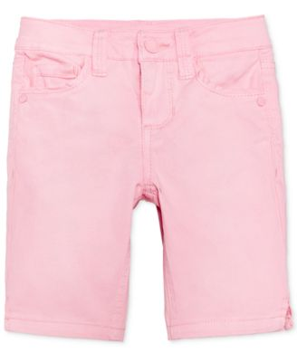 "Image of Celebrity Pink 8"" Colored Denim Bermuda Shorts, Toddler & Little Girls (2T-6X)"