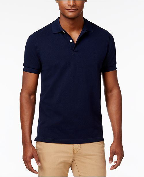 bb1e878e83a3 Brooks Brothers Men s Slim-Fit Pique Knit Cotton Polo   Reviews ...