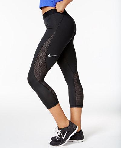 nike pro hypercool capri leggings pants women macy 39 s. Black Bedroom Furniture Sets. Home Design Ideas