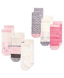 First Impressions 6-Pk. Crew Socks, Baby Girls, Created for Macy's