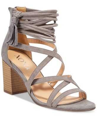 XOXO Elle Block-Heel Sandals