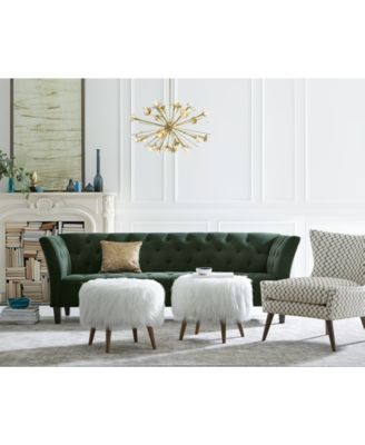 arielle tufted fabric sofa, created for macy's - furniture - macy's