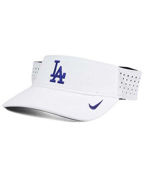 373698c53b2 Nike Los Angeles Dodgers White Dri-FIT Visor - Sports Fan Shop By ...