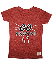 Retro Brand Girls' Georgia Bulldogs V-Neck T-Shirt
