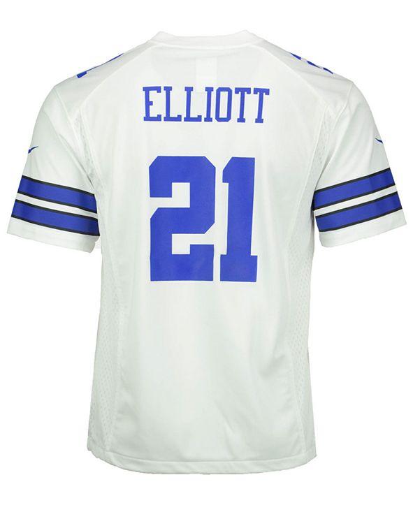 Nike Ezekiel Elliott Dallas Cowboys Game Jersey, Big Boys (8-20)