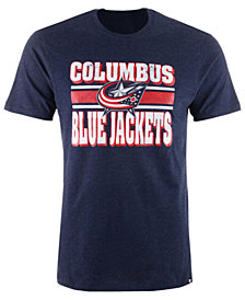 '47 Brand Men's  Columbus Blue Jackets Stripe Knockaround Club T-Shirt