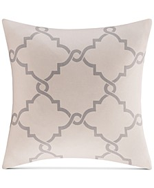 "Saratoga Fretwork-Print 20"" Square Decorative Pillow"