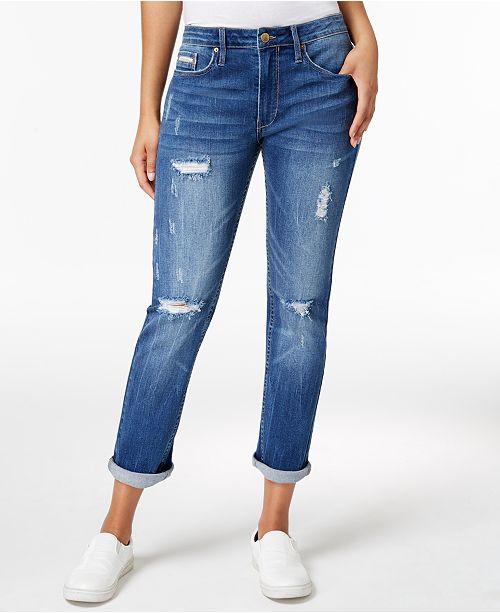 e5e86b2fd3de Calvin Klein Jeans Slim-Leg Boyfriend Jeans - Jeans - Women - Macy s