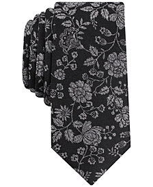 Bar III Men's Allante Brook Floral Slim Tie, Created for Macy's