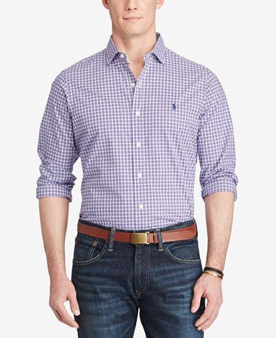 Polo Ralph Lauren Men's Cotton Poplin Sport Shirt - Casual Button ...