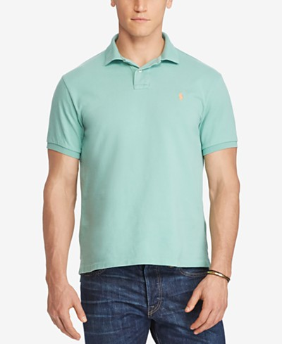 Polo Ralph Lauren Men's Big & Tall Classic Weathered Cotton Mesh Polo