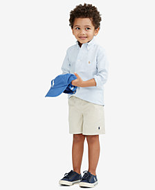 Ralph Lauren Oxford Shirt & Prospect Flat Front Shorts, Toddler Boys, Little Boys, & Big Boys