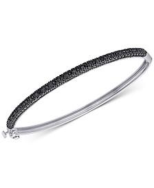 Diamond Bangle Bracelet (1/4 ct. t.w.) in Sterling Silver