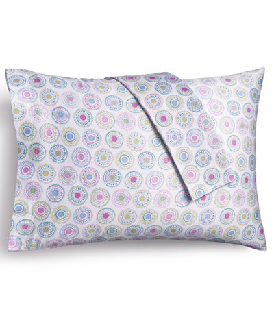 CLOSEOUT! bluebellgray 230 Thread Count Printed Standard Pillowcases, Set of 2