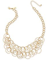 INC International Concepts Multi-Circle Statement Necklace, Created for Macy's