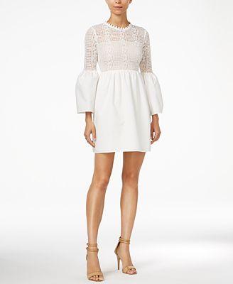 endless rose Cutout Lace-Contrast Dress