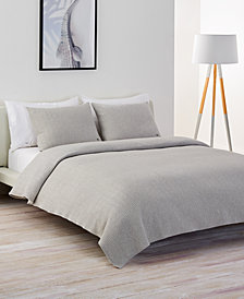 Lacoste Home Cotton Chevron Quilted King Coverlet