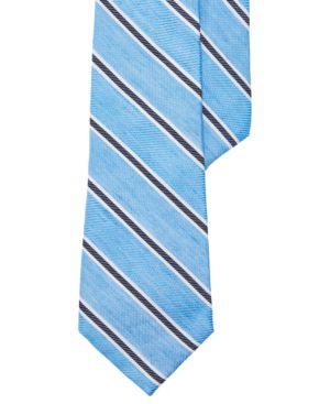 Lauren Ralph Lauren Men's Striped Navy Twill Tie thumbnail