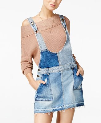 Free People The Patchwork Denim Jumper