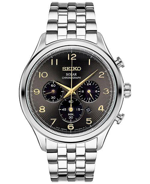 ... Seiko Men s Chronograph Solar Classic Stainless Steel Bracelet Watch  42mm SSC563 ... a0b4878a1816