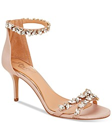 Caroline Embellished Ankle-Strap Evening Sandals